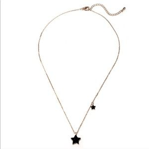 Sparkling Ebony Star Necklace